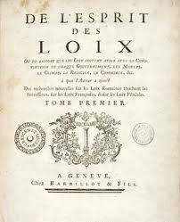 Montesquieu - Esprit des lois - séparation des pouvoirs - République dans Education