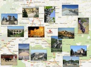 aaaaaaaaaaprovencecarte-300x221 La Provence - Tourisme dans le Sud-est - Bécaud - Les marchés de Provence - vacances - Tourisme en France dans ETE 2013