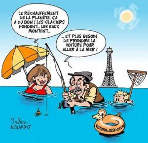 aaaaaaaaaahumourrechauffement-300x288 Dessins humoristiques - Robert Lamoureux - La chasse au canard dans Dimanche